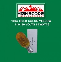 BULB COLOR YELLOW 15 WATTS 110 VOLTS