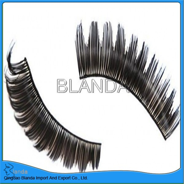 single medium volume human hair eyelashes