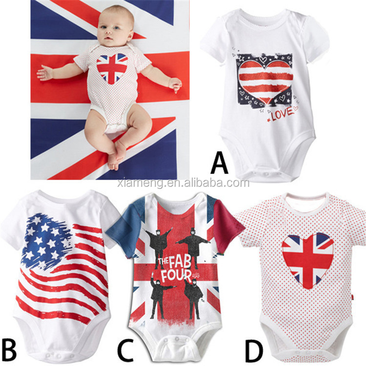 Alibaba wholesale short sleeve high quality cotton baby romper jumpsuit