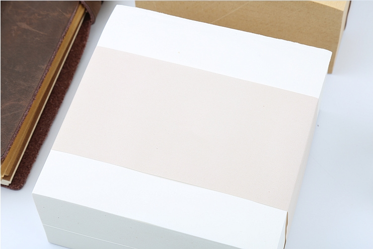 Customized thick 4cm blank white sticky memo note pad