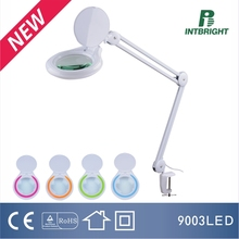 HOT! Manufacturer LED folding magnifying glass lamp multicolor dimming led magnifying lamp
