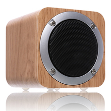 Fashion Festival Gift Magnetic Horn Shock Bass Portable Wireless Wooden Bluetooth Speaker