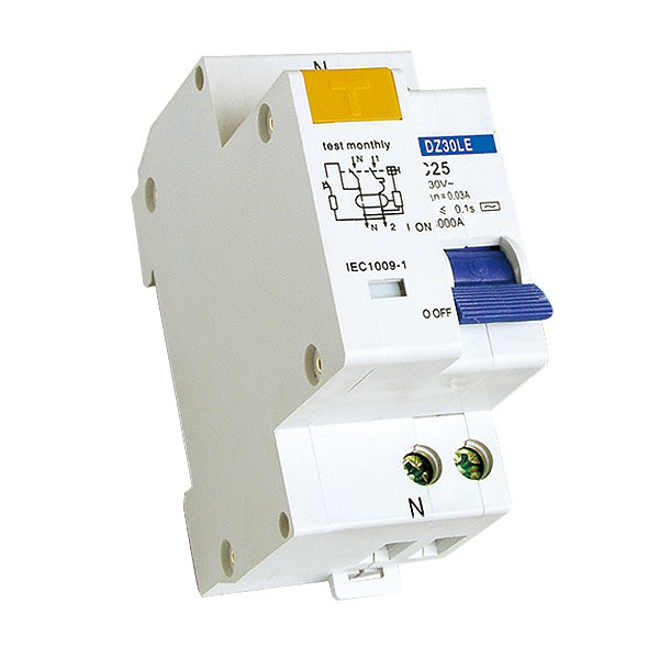 DZ30LE DPN VGI 6A 10A 16A 20A 25A 32A 30mA 1P+N RCD with overload protection Phase Neutral Earth leakage Circuit Breaker