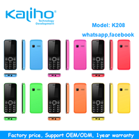 factory supply small size whatsapp facebook basic purple color mobile phone