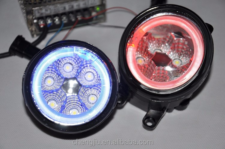 Easy Installing Toyota accessories car light parts ,Toyota Yaris led fog light color changing