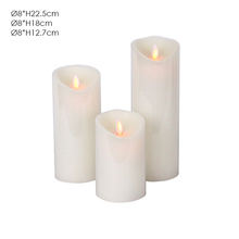 Colorful natural polyresin handmade electronic candle from china factory