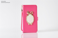 Fashion Lovely Girl Mirorr Wallet Pouch Leather Case Cover For iPhone 6 6s