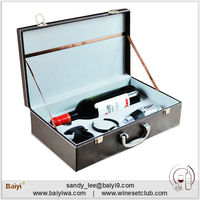 Professional Wholesale Leather Used Wine Box