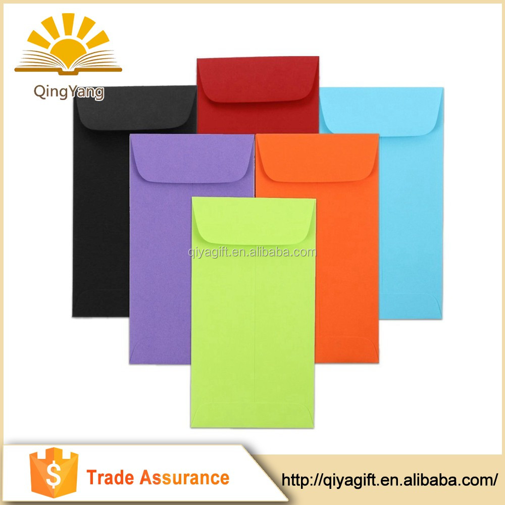 Colorful mini custom printed coin envelopes