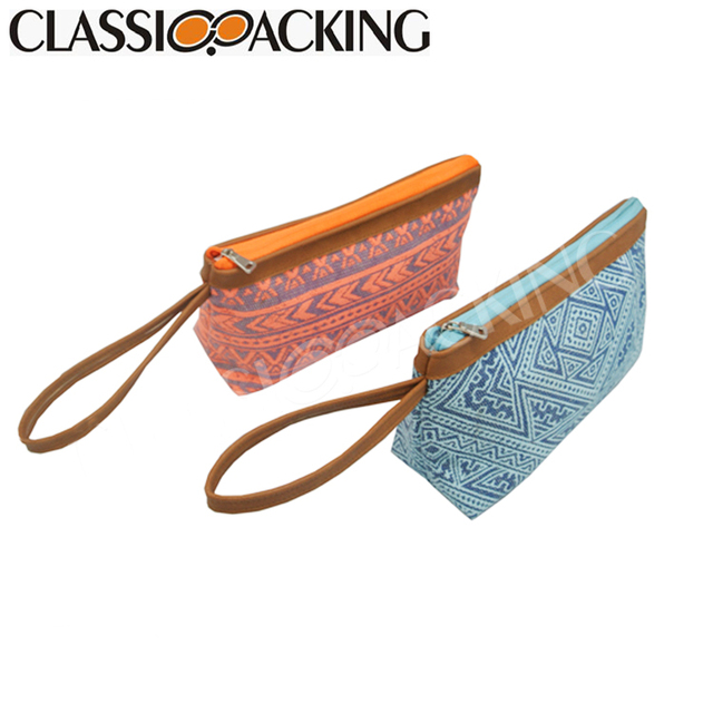 Oem fashion small promotional cosmetic bag canvas travel,plain canvas makeup bag cosmetic,wholesale canvas cosmetic bag