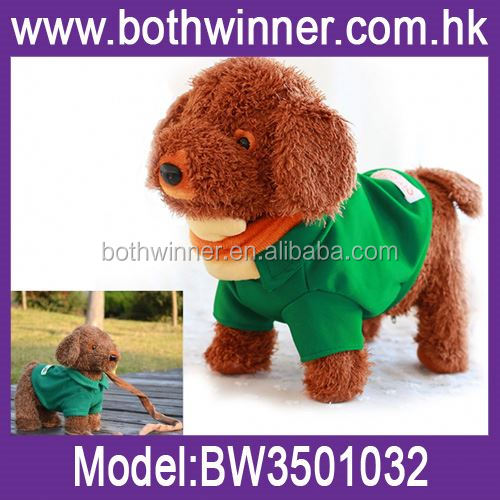 Battery operated dog toy ,H0T068 hot selling black singing plush dog toys for sale