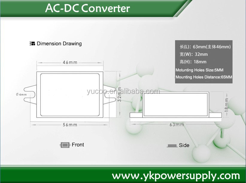 AC 24v to 12v Digital dc dc Power Converter Module