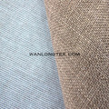 Polyester Linen fabric with TC backing for upholstery