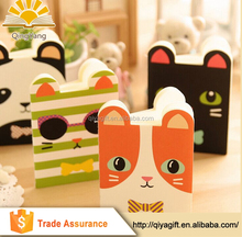whloesale cute promotional easy carry-on pocket small size animal shaped notepad