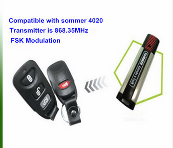 868mhz Same sommer functions remote controls