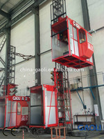 customization accepted passenger and cargo Lifting Hoist/ elevator / lift with double cages