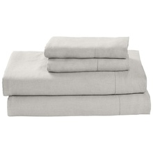 Pure Linen Bedding;French Linen Bed Sheet Set with Hemstitch