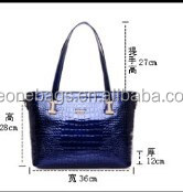 Alibaba China Korean Fashion Popular Genuine Python Skin Lady Tote Bag