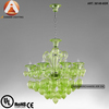 Mini Green Glass Chandelier With 6