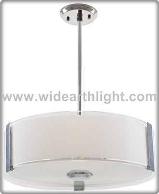 UL CUL Listed Modern Bedside Room Hotel Modern Light Pendant With Drum Shade C60531