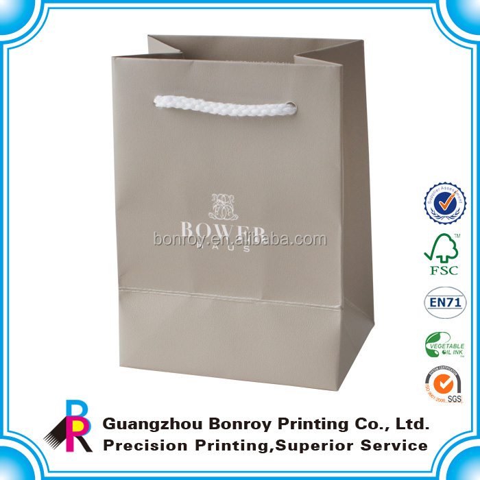 Mini size customized brown paper bag for gift