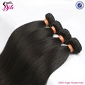 Natural color raw unprocessed virgin brazilian hair silky straight hair bundles