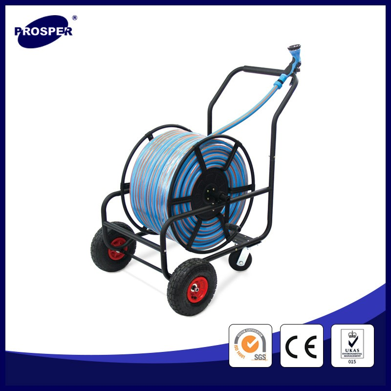 four wheels garden hose reel cart / small garden cart / metal garden cart