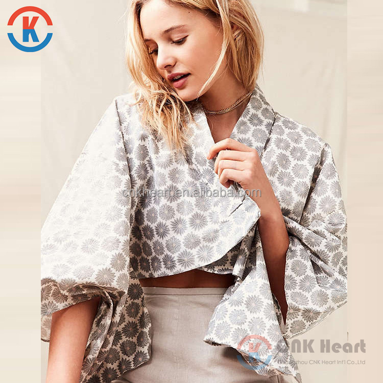 Hot sale fashion women short wholesale kimono jacket for ladies