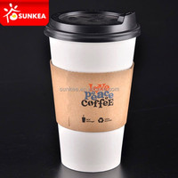 16 oz double single wall fancy paper cups with sleeve