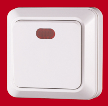 electrical European style wall <strong>switch</strong> one gang wall <strong>switch</strong> red light