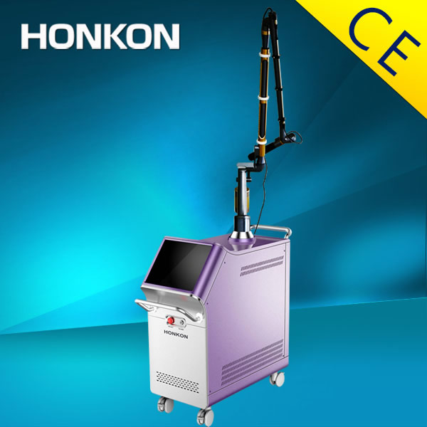 CE approved Q switch nd yag laser tattoo removal machine with low energy loss Korean seven-joint arm
