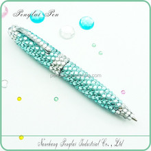 2015 crystallized gift metal crystal body pen diamond jewelled crystal bling writing pens