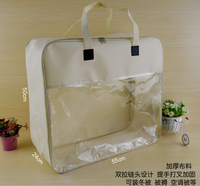 New design Ultra Clear PVC Packaging bag for Blanket and summer sleeping mat Retailing