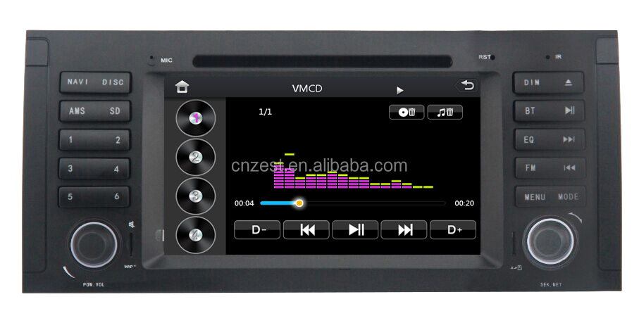 car cassette and cd dvd and gps for BMW E39 with Rear View Camera GPS BT TV Radio RDS