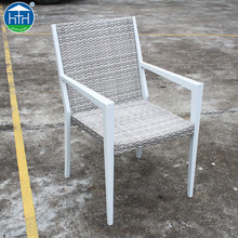 DW-CH215 Wholesale Modern Outdoor Wicker Furniture Alu Synthetic Rattan Dinning Chairs