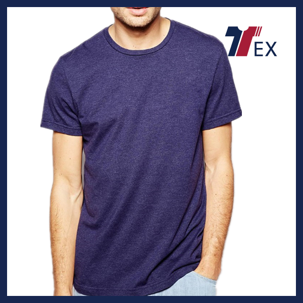 Wholesale hemp and cotton t shirts crew neck regular fit blank t shirt best quality China
