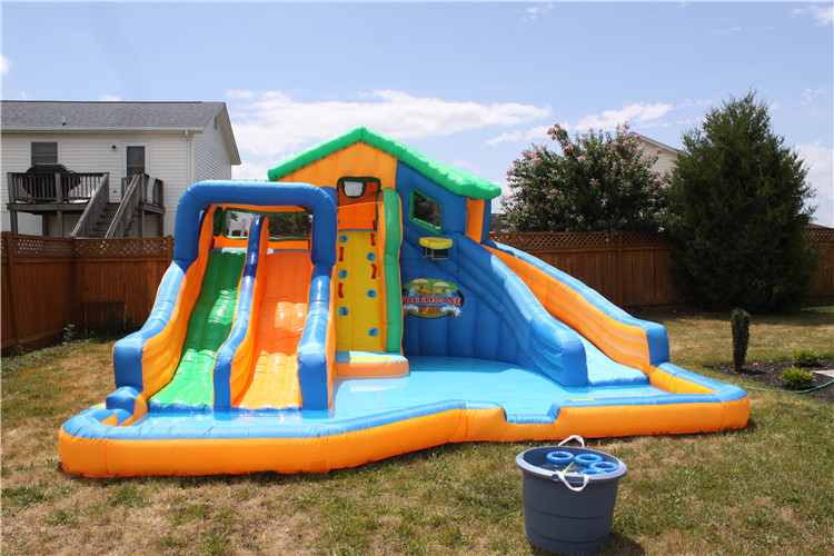 Kids Yard Games 2016+ inflatable water park chidlren inflatable pool and water slider