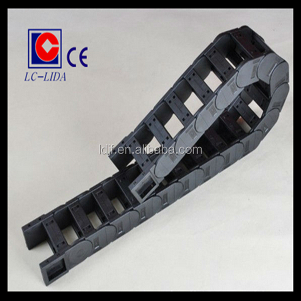 Black color of 35 series plastic cable drag chains with all kinds of joints
