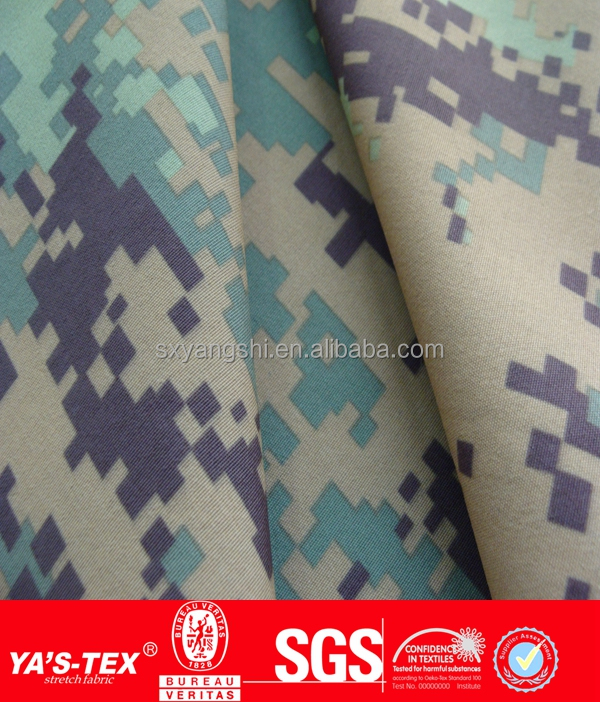 High quality100% Nylon Camouflage Print Bonded Interlock Fabric