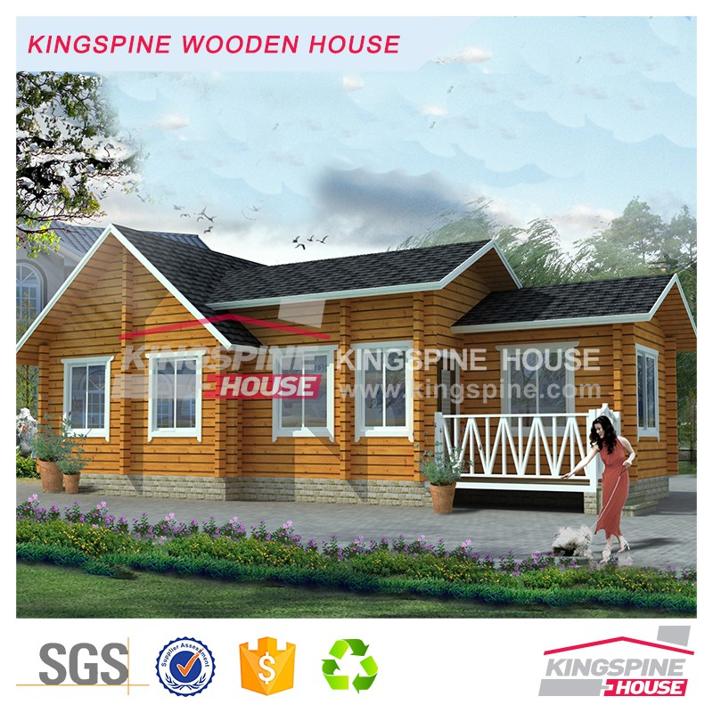 Prefabricated Log cabin Small wooden Restaurant house KPL-095