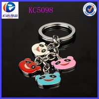 National treasure panda keychains with a smiling face