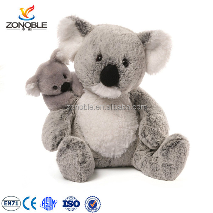 Factory making mother and baby koala bear soft toy cute plush koala baby stuffed animal