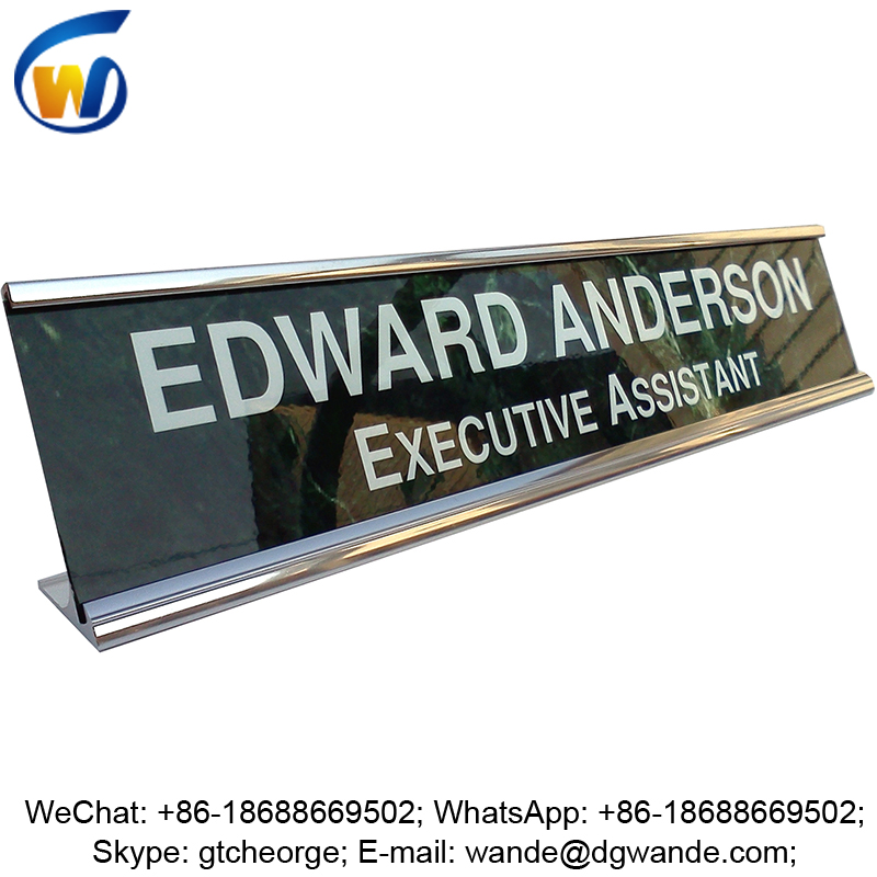 custom aluminum metal name plate holder