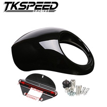 Black Plastic Front Motorcycle headlight fairing For Harley 883 XL1200 Dyna Sportster FX
