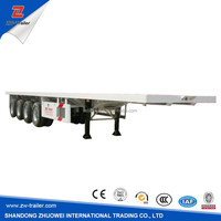 20ft/40ft Chassis for Used Flat Bed Truck Trailer