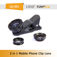 High Quality LQ-001 3 in 1 0.67X Wide Angle Lens 180 fish eye macro lens Camera Lens Cover for Mobile Phone galaxy note 3 Canon