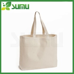 Logo custom white canvas bag/canvas tote bag blank