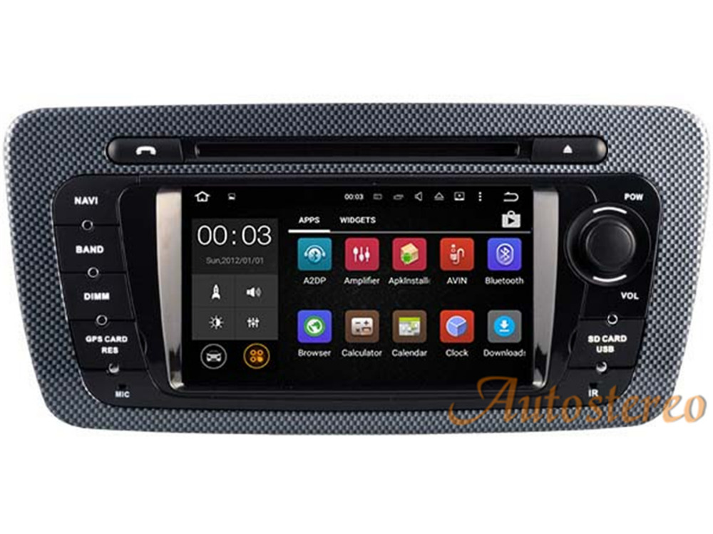 Car Dvd Gps Navigation Player Radio Android 7.1 16GB+2GB RAM Quad Croe for SEAT IBIZA 2009-2013 color flower stereo unit