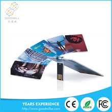 2016 wholesale business card usb flash drive with logo printing credit card usb 1gb 2gb 4gb 8gb 16gb 32gb