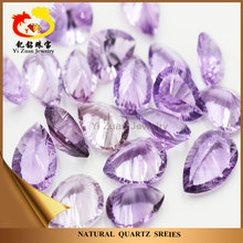 Pear Shape Millenium Cut Gem Stone Natural Amethyst Quartz